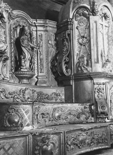 détail du tabernacle, partie gauche