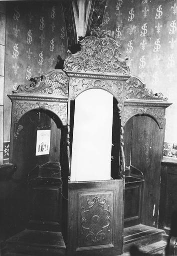 confessionaux, bois sculpté, 18e siècle
