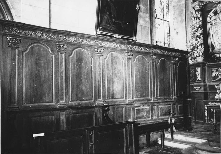 lambris de revêtement, bois sculpté, 18e siècle
