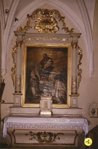 autel et retable latéral nord
