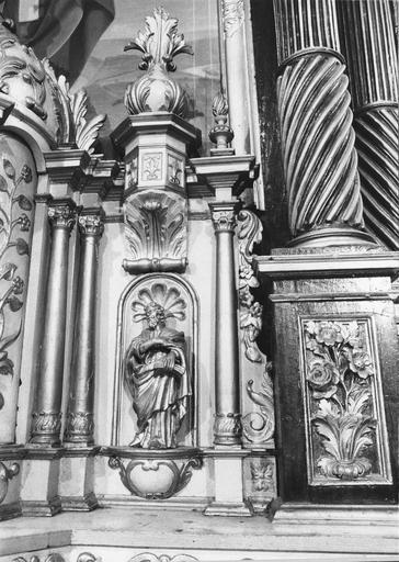détail du tabernacle, partie droite
