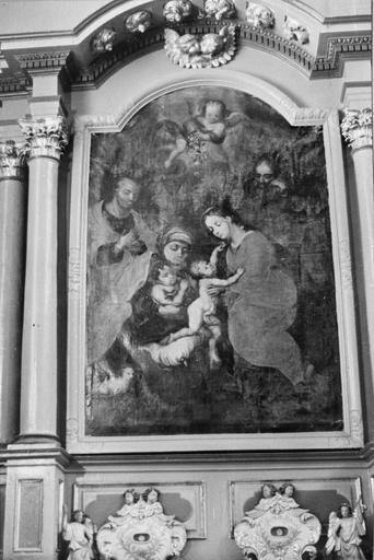 tableau : La Sainte Famille du retable nord, 18e siècle