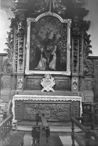 autel et retable du Rosaire avec son tableau, 18e siècle