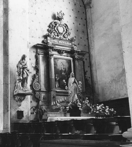 Retable latéral, bois sculpté, 18e siècle