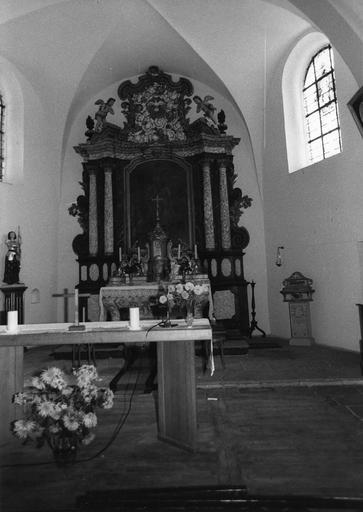 maître-autel, bois polychrome en partie doré, 18e siècle
