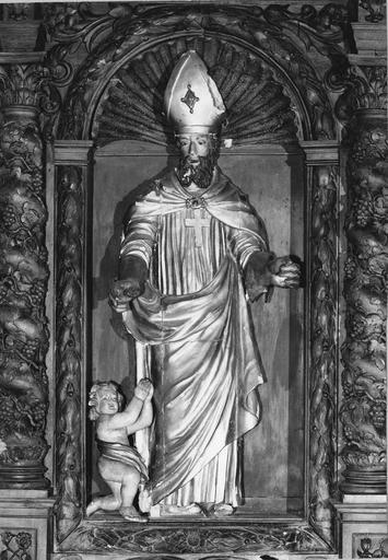 statue du retable latéral gauche: Saint Claude