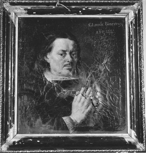 tableau : Claude Binétruy, huile sur toile, 1685 et son cadre