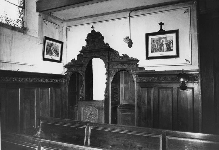 confessionnal, bois sculpté, 18e siècle