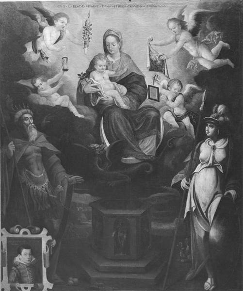 tableau : Le Triomphe de la Vierge, vue générale