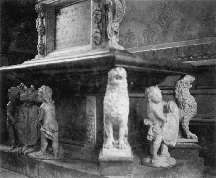 Monument funéraire de Just-Ferdinand de Rye, marquis de Varambon, vue partielle