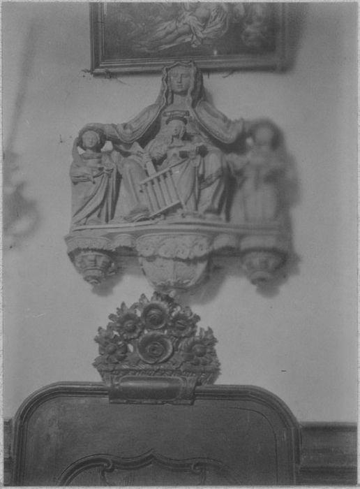 groupe sculpté : Vierge de Miséricorde, vue générale