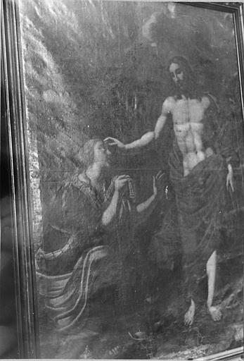Tableau : 'L'Apparition du Christ à Marie-Madeleine', huile sur toile