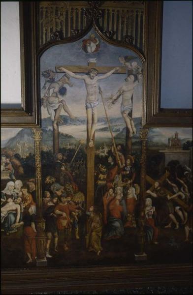 Tableau : la Passion du Christ, vue partielle