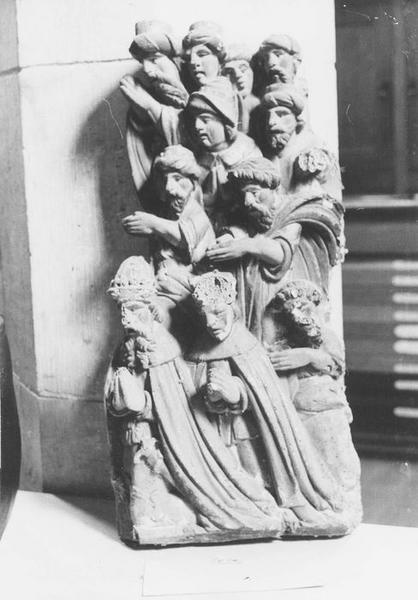 Bas-relief : les Rois Mages adorant l'Enfant Jésus