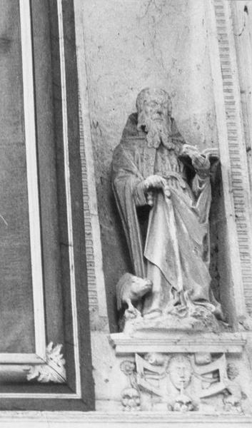 Statue : Saint Antoine et son cochon