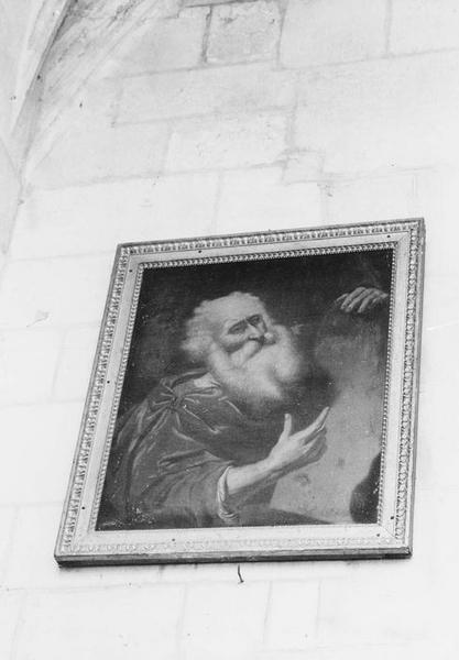 Tableau et son cadre : Moïse montrant les tables de la Loi