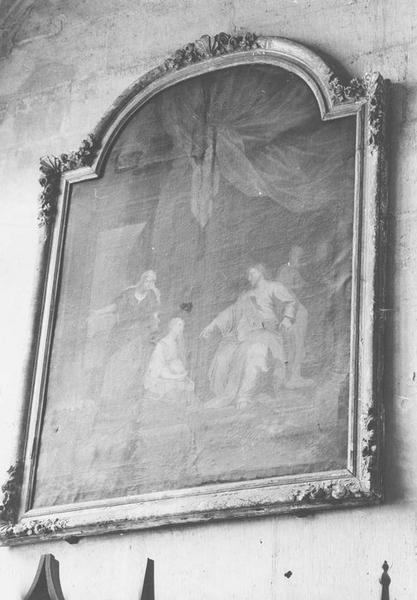 Tableau et son cadre : le Christ et sainte Madeleine