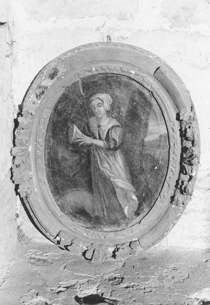 Tableau et son cadre : Sainte Geneviève