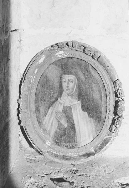Tableau et son cadre : Sainte Jeanne de Chantal