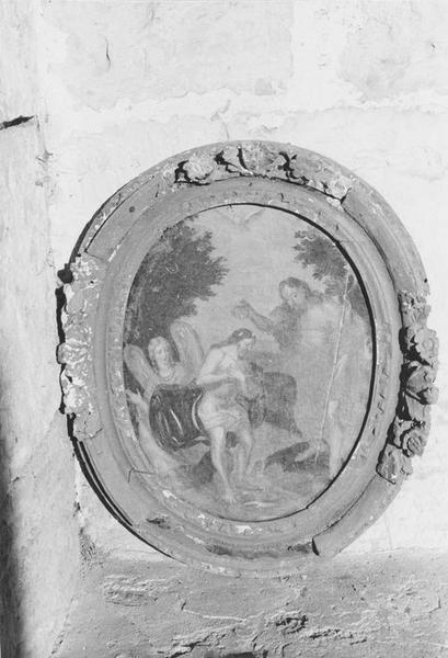 Tableau et son cadre : Baptême du Christ