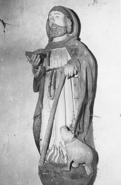 Groupe sculpté : Saint Antoine