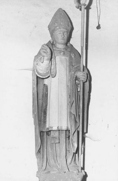 Statue : Saint évêque (saint Ouen ?)