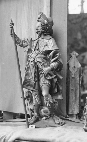 statue : saint Roch, vue générale