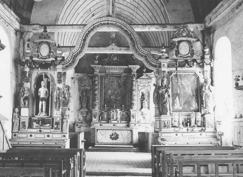ensemble du maître-autel (autel, tabernacle, retable), retables secondaires