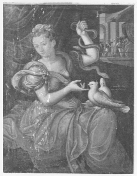Tableau d'autel : la Prudence ou la Victoire sur l'hérésie