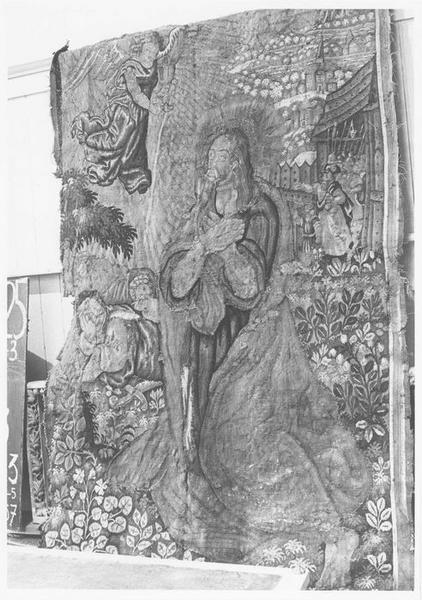 Tapisserie : le Christ au Jardin des Oliviers