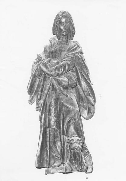 Groupe sculpté : Sainte Marguerite d'Antioche