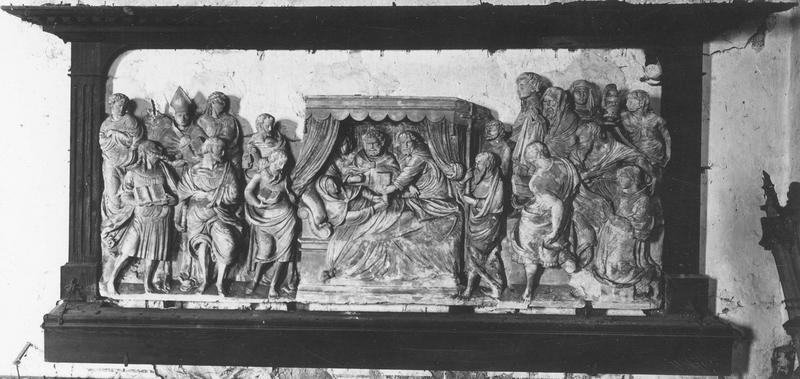 retable : la Mort de la Vierge, vue générale