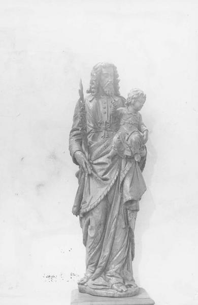 Groupe sculpté : Saint Joseph et l'Enfant Jésus
