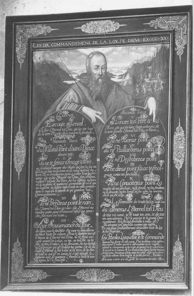 Tableau (panneau peint) : Table des Dix commandements