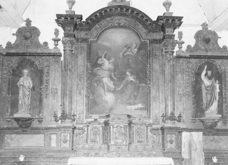 retable et tabernacle du maître-autel, vue générale