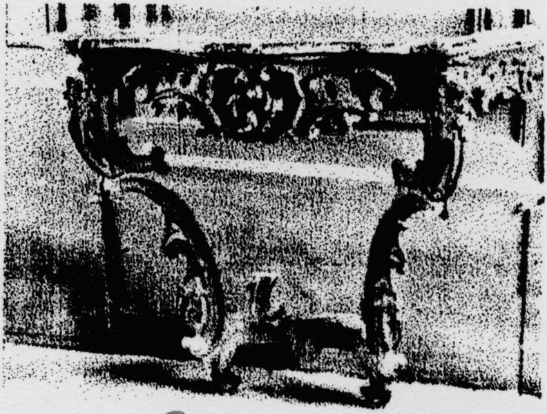 crédence (table-console), style rocaille, vue générale