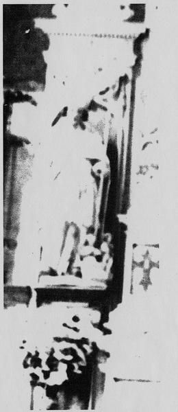 Retable du maître-autel, détail de la statuette de saint Nicolas