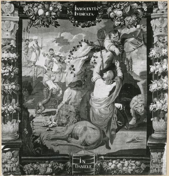 Tenture : Allégorie de l'Innocence ou Daniel dans la fosse aux lions