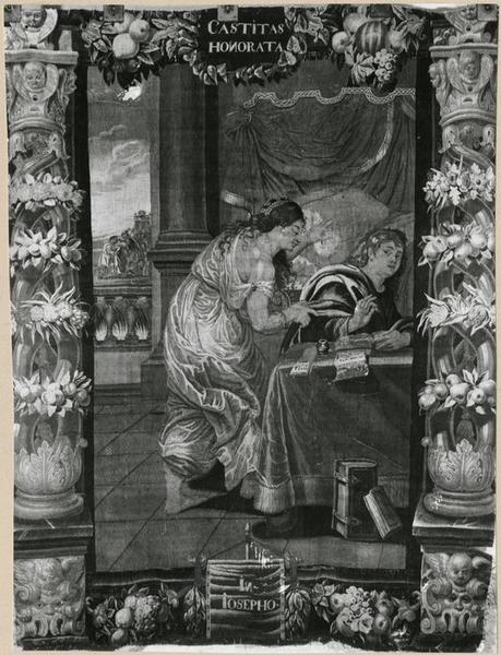 Tenture : Allégorie de la Chasteté ou Joseph et la femme de Putiphar