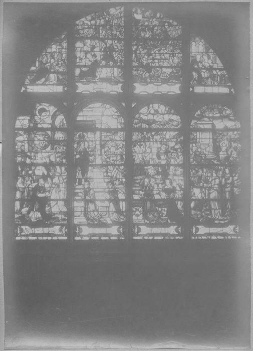 Verrière : Scènes de la vie de sainte Clotilde, Conversion de Clovis (baie 26)