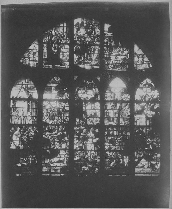 Verrière : Scènes de la vie de saint Léger (baie 22)