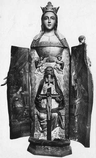 Statue : Vierge à l'Enfant, statue ouvrante, bois