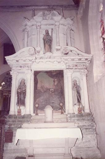 Autel et retable latéral Sud, tableau : saint Jérôme ?