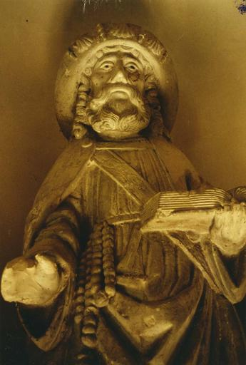 Statue : Saint Jacques le Majeur, pierre polychrome