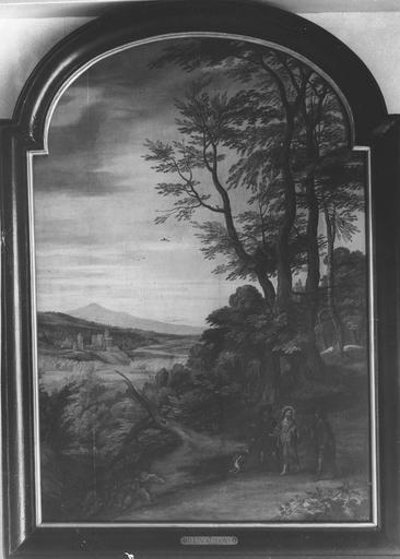Tableau : les Pèlerins d'Emmaüs, panneau peint