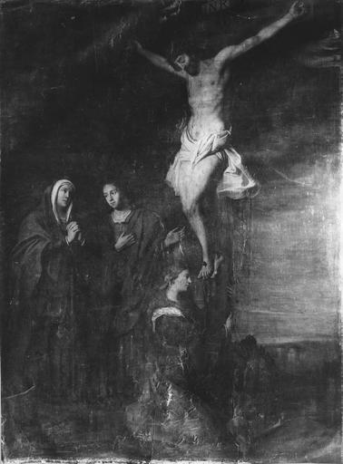tableau : Le Christ en croix, huile sur toile