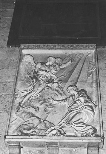 Bas-relief : L'Annonciation, pierre, 1769