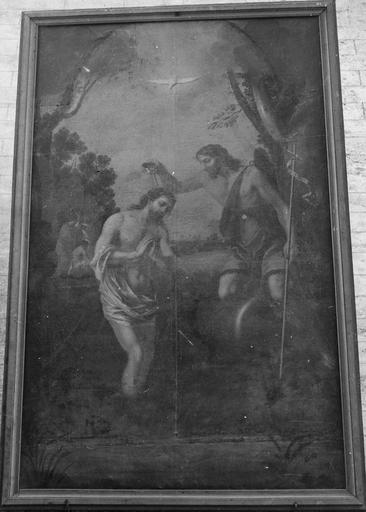 Tableau : Le Baptême du Christ, huile sur toile