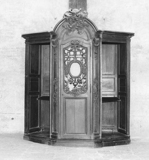 Confessionnal (n°4), bois sculpté