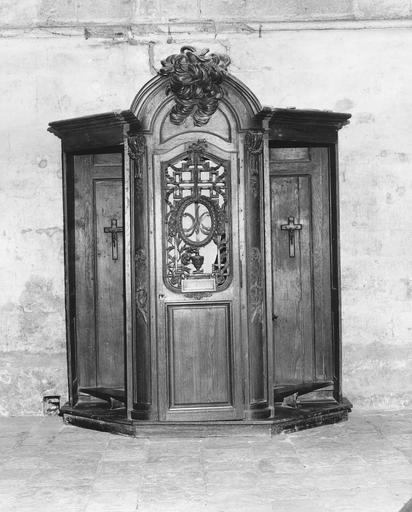 Confessionnal (n°5), bois sculpté